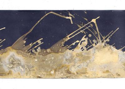"Littoral Drift #501 (Mono Lake, CA 09.04.16, Three Waves, Splashed); 21x90"""
