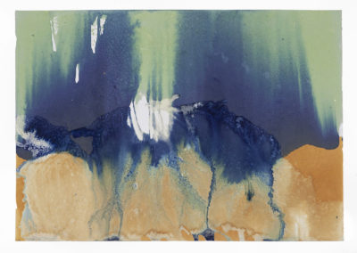 "Littoral Drift Nearshore #472 (Bainbridge Island, WA 10.18.16, Two Waves, Poured, Dawn to Dusk) ;24x36"""