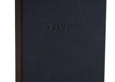 Eluvium Book v2 - hand bound accordion book housed in a custom box by Super Classy Publishing