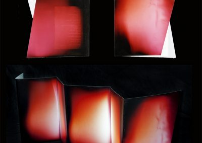 Untitled (Portrait of J&L Books), unique chromogenic photogram accordion book  (J_L_books_web)