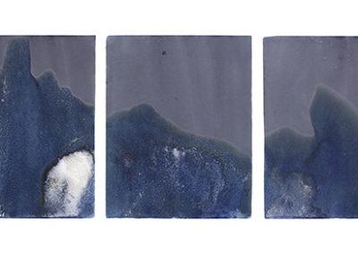 "Littoral Drift #54 (Blakely Harbor, Bainbridge Island, WA 01.03.17, Thirty minutes of Receding Tide); 24x100"""
