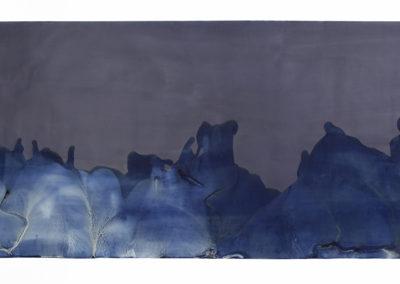 "Littoral Drift #93 (Shine Tidelands, Port Ludlow, WA 01.02.17, Five Waves During Tidal Drawback); 42x93"""