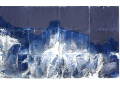 "Littoral Drift #270 (Ft. Ward Beach, Bainbridge Island, WA 06.16.15, Tidal Draw, Five Minutes Preceding Low Tide);  57""x96""  (private collection)"