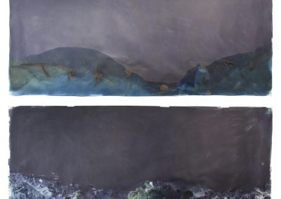 "Littoral Drift #16 (Recto/Verso, Rodeo Beach, CA 07.21.13, Three Waves, Submerged); 42""x110"""