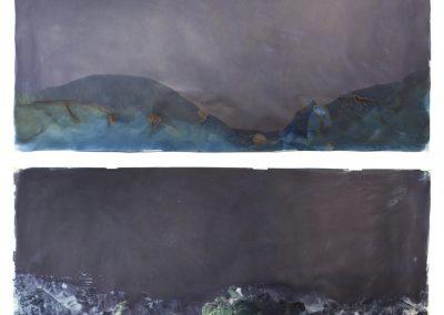 Littoral Drift #16(Recto/Verso, Rodeo Beach, CA 07.21.13, Three Waves, Submerged)